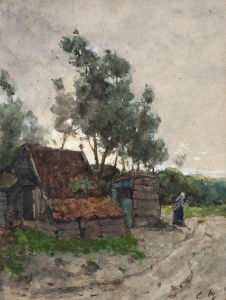 A farm on a countrylane - Floris Verster