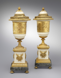 A pair of Empire covered vases - Attributed to Claude Galle