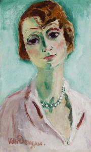 Lady with a pearl necklace - Kees van Dongen