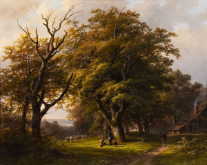 Rural landscape with a farm - Johann Bernard Klombeck