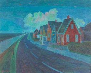 Dirk Breed, 'Mijn Buurt, Waverveen', oil on canvas, signed 'Dirk Breed' lower left, 100x80 cm - Dirk Breed
