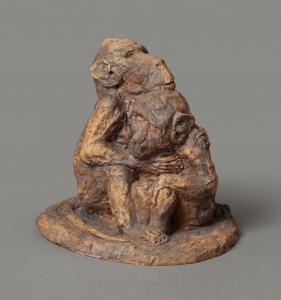 Twee omhelsende aapjes - Jacob Nieweg
