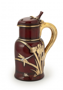 Russian silver-gilt and laquer lidded jug - Pavel Akimovich Ovchinnikov