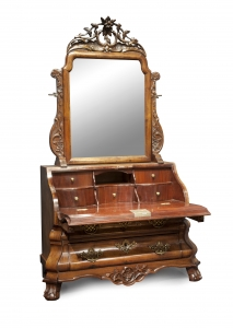 Dutch Louis Quinze miniature bureau with mirror