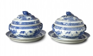 A PAIR OF QIANLONG TUREENS