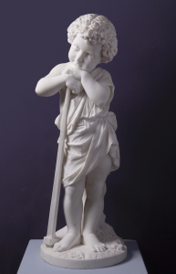 Marble sculpture of boy with hammer