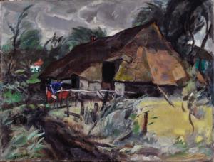 Staphorst Farm by Jan Sluijters ('s Hertogenbosch 1881 - 1957 Amsterdam)