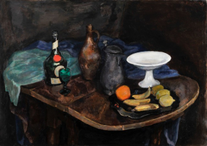 Still life with table by Jan Sluijters ('s Hertogenbosch 1881 - 1957 Amsterdam)