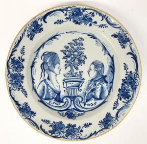 A Delftware orangist plate