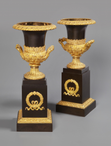 Fine pair of Empire 'Medici' Vases