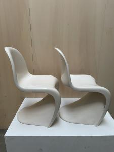 Verner Panton twee S chairs 1977, uitv door Herman Miller/Fehlbaum - Verner Panton