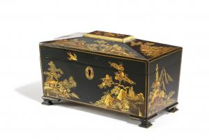 Japanned tea casket
