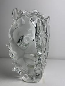 Sybren Valkema, Leerdam unica, VE 63 LL, mask clear crystalglass - Sybren Valkema