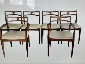 Danish Rosewood Mid-Century Dining Chairs Johannes Andersen for Christian Linneberg - Johannes Andersen