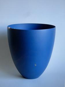 Geert Lap, one off, dark blue vase, stoneware, terra sigillata, - Geert Lap