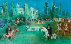 Les courses d'Obstacles - Jean Dufy