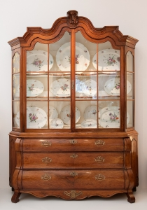A Dutch padauk display cabinet