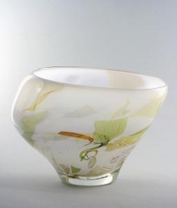 Sybren Valkema, Leerdam Unica, asymmetrische glazen vaas, 1981 - Sybren Valkema