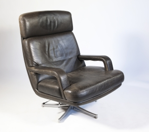 Bernd Münzebrock, Leather Lounge Chair 'Don', type 176, for Walter Knoll, 1970s - Bernd Münzebrock