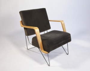 Cees Braakman for Pastoe, Rare edition of Combex-FM03 armchair with plywood armrests, design ca. 1954 - Cees Braakman