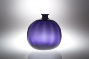 A.D. Copier, One-off blue bottle, Glass factory Leerdam, 1925 - Andries Dirk (A.D.) Copier