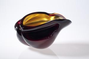 Barbara Nanning, Verguld glasobject, uit de serie 'Verre églomisé', Novy Bor, 2003 - Barbara Nanning