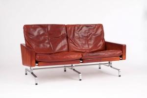 Poul Kjaerholm, Leather Sofa, PK31/2, Executed by E. Kold Christensen, ca. 1958 - Poul Kjaerholm