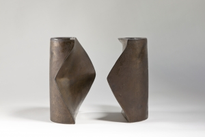 Jan van der Vaart, Two-piece bronze glazed vase, 1970 - Jan van der Vaart