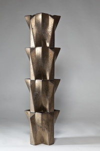 Jan van der Vaart, Bronze glazed tulip tower, multiple, 1990 - Jan van der Vaart