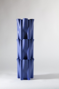 Jan van der Vaart, Blue glazed Tulip Tower, multiples, design 1989, execution 1990 - Jan van der Vaart