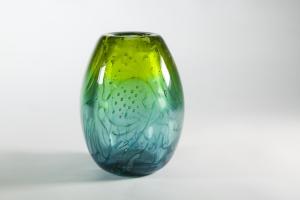 A.D. Copier, One-off Thick Glass 'Aquarium' Vase, Glass factory Leerdam, 1952 - Andries Dirk (A.D.) Copier