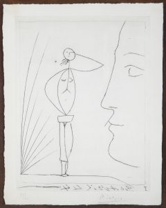 Profil et femme nue - Pablo Picasso