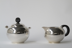 Van Kempen Voorschoten, Silver milk and sugar set, year number G, 1941 - Zilverfabriek Van Kempen & Zonen, Voorschoten