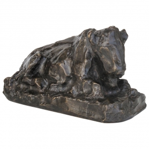 Lambertus Zijl, Bronze Sculpture of a Sitting Ox, 1916 - Lambertus Zijl