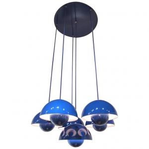 Verner Panton, uitvoering Louis Poulsen, Flowerpot plafondlamp, ontwerp 1968 - Verner Panton