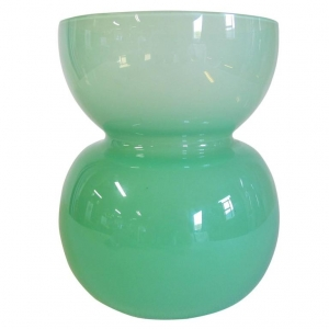 Jan van der Vaart, Unique green glass vase, Glass Factory of Leerdam, 1995 - Jan van der Vaart