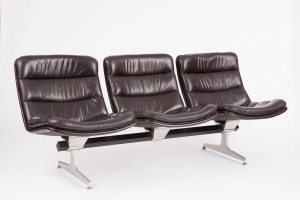 Geoffrey Harcourt for Artifort, Rare beam-mounted, multiple seating system, ca. 1968 - Geoffrey Harcourt
