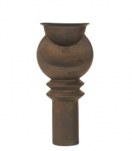 Jan van der Vaart, Bronze glazed stoneware vase, multiple, designed and executed in own studio, 2000 - Jan van der Vaart
