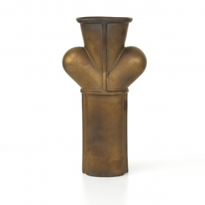 Jan van der Vaart, Bronze glazed stoneware vase, multiple, designed and executed in own studio, 1999 - Jan van der Vaart