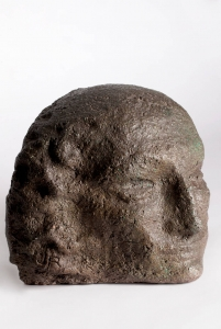 John Raedecker, Gres sculpture of a female head, execution by Bert Nienhuis, 1923 - John (J.A.) Raedecker