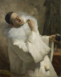 Portrait of a Pierrot (presumably Buziau) - Floris Arntzenius