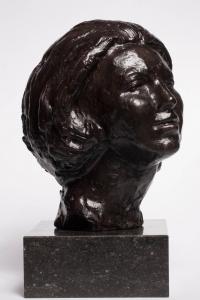 Mari Andriessen, Bronzen sculptuur van Prinses Beatrix, ca. 1980 - Mari Andriessen