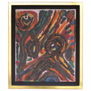 Willem Hussem, Painting 'Composition no. 2', oil on canvas, 1954 - Willem Hussem