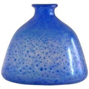 A.D. Copier, Art Deco glazen vaas met blauwe kleurpoeders, Leerdam Serica nr. 26, 1929 - Andries Dirk (A.D.) Copier