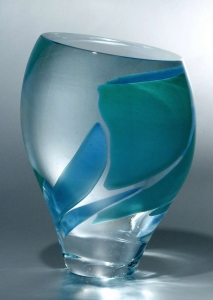 A.D. Copier, Glass object, executed by Gary Beecham, Studio Harvey Littleton, 1982 - Andries Dirk (A.D.) Copier