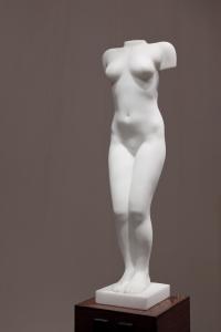 Eja Siepman van den Berg, 'Zigzag' torso, Carrara marble, 1995 - Eja Siepman van den Berg