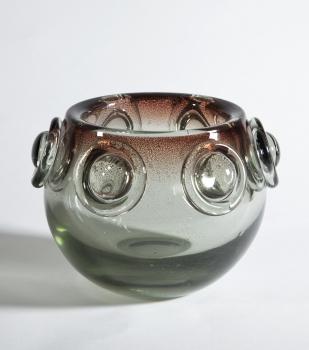A.D. Copier, Unique thick glass bowl, Glass factory Leerdam, 1941 - Andries Dirk (A.D.) Copier