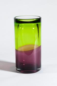 Floris Meydam, Thick glass cylinder vase, MT292LL, executed by L. van der Linden, 1970 - Floris Meydam