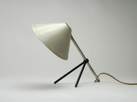 H. Busquet voor Hala Zeist, Witte Pinocchio lamp, jaren '50 - H. Th. J. A. Busquet