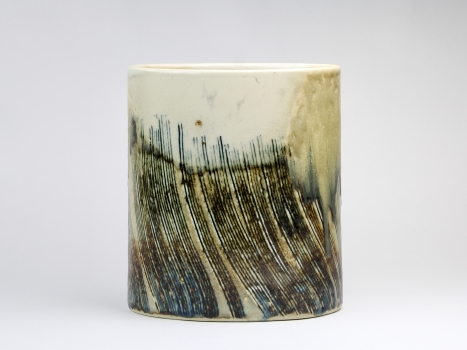 Johan van Loon, Ceramic vase with oval base, 1970s - Johan van Loon